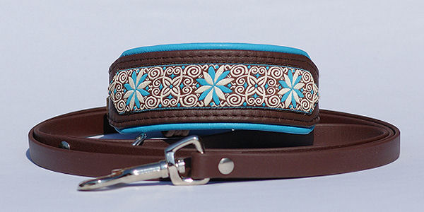 Sighthound collar with matching lead made of Biothane - Bayaana