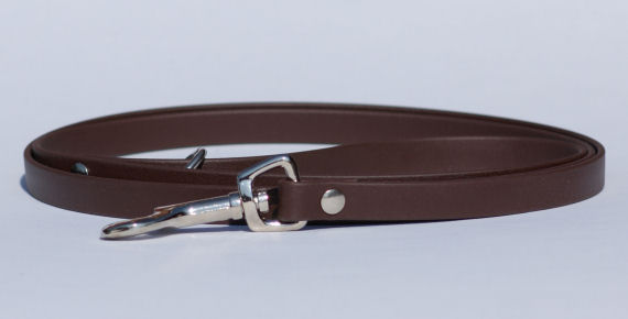 Dog lead made of Beta Biothane, dark brown - Bayaana