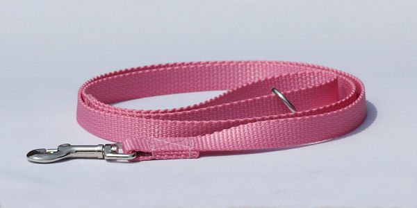 Dog lead made of webbing, pink