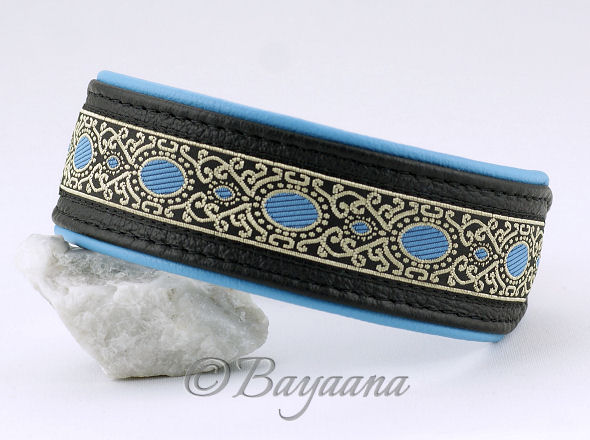 Sighthound Collar, Leather, Blue Romance